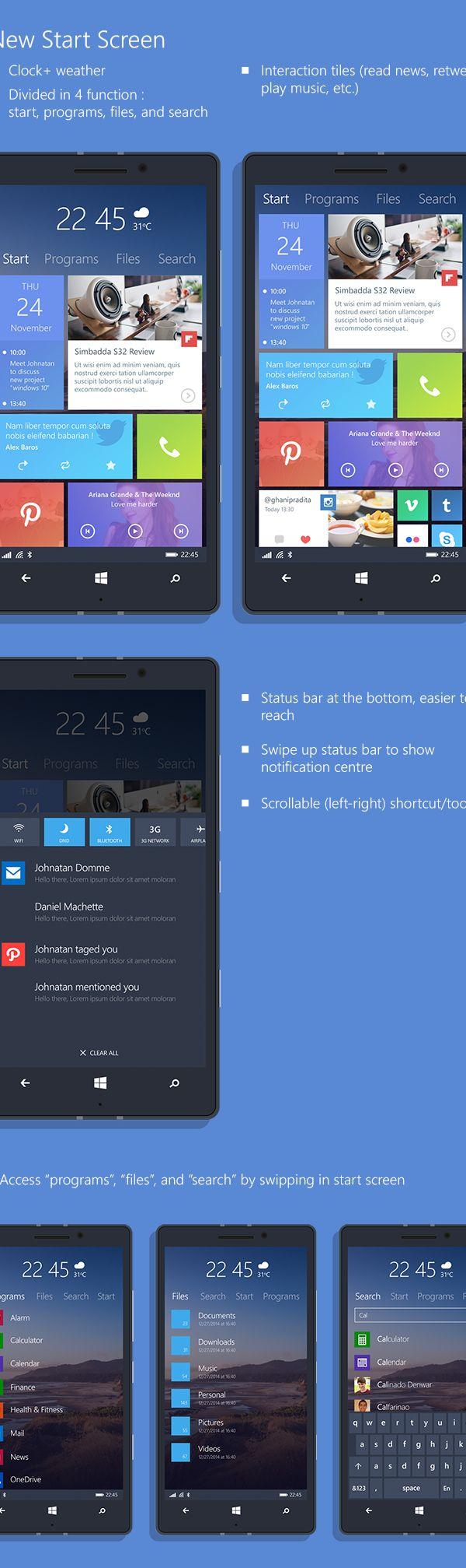 Windows Phone 10 Concept on App Design Served