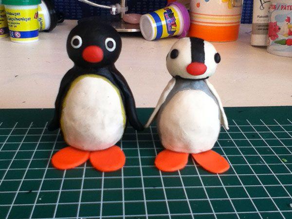 Lavoretto con pasta di sale: Pingu