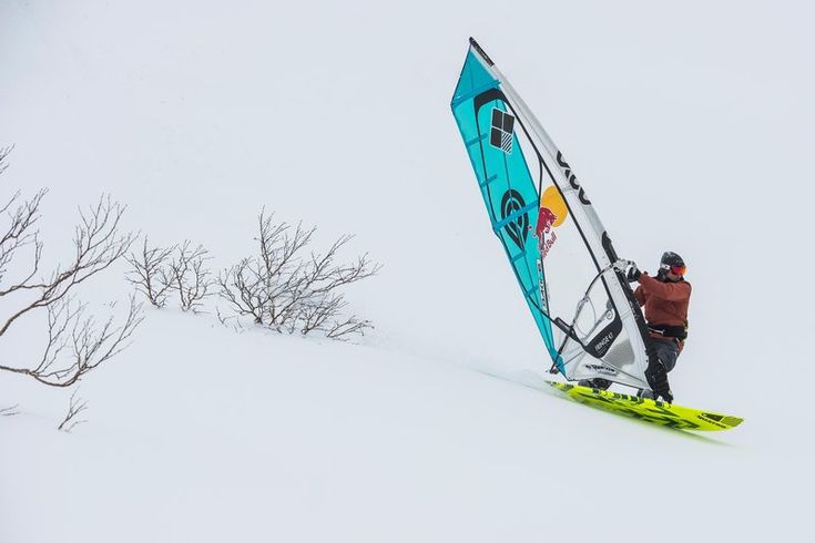 Athlete Levi Siver Becomes the World's First Alpine Windsurfer - BookSurfCamps.com