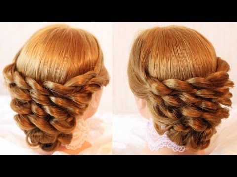 Pulled Braided Updo How to Video Tutorial. **No step by step instructions given, only visual steps shown.