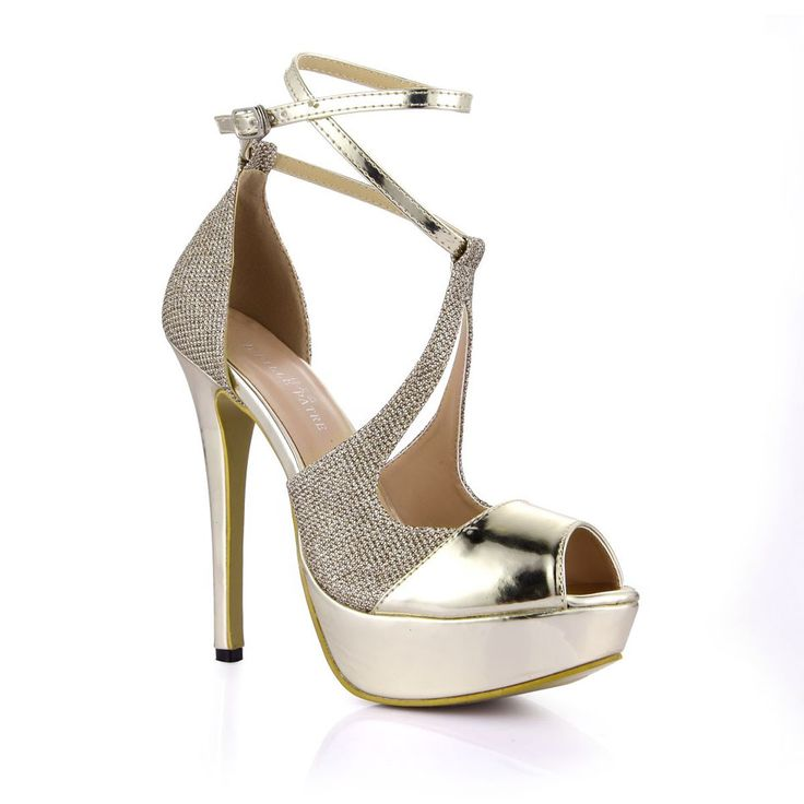 Spring Gold Patent PU Sexy Party Women's Shoes Peep Toe Stiletto Heel Ankle  Strap Platform Sandals Zapatos Mujer * This is an AliExpress affiliate pin.
