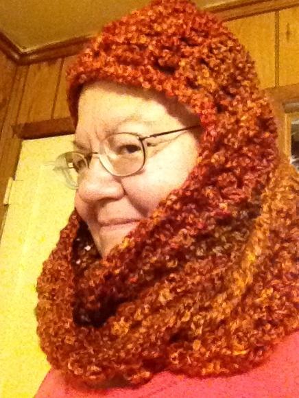 Made Whitney scoodie homespun wildfire yarn Crochet ...