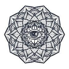 Image result for mandala yin yang third eye tattoo