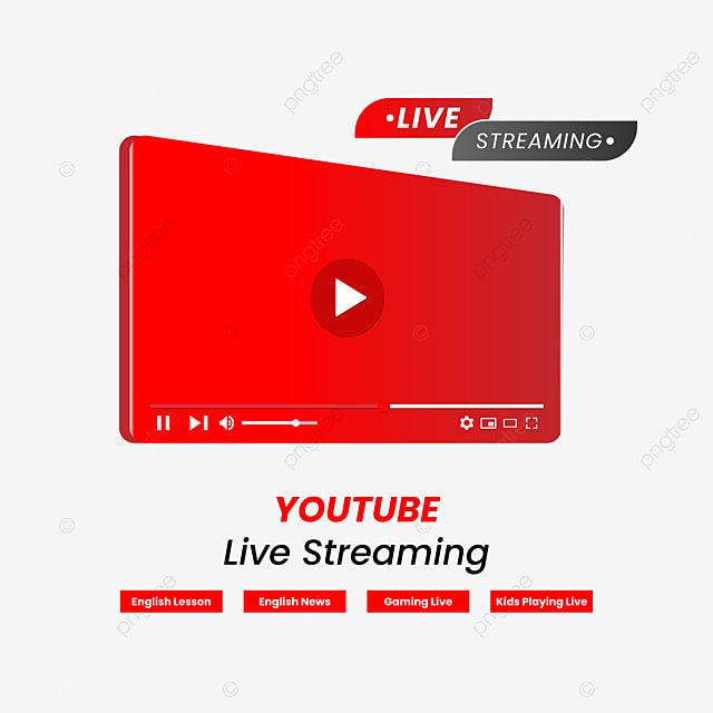 Youtube Live Streaming Youtube Live Stream Png And Vector With Transparent Background For Free Download Youtube Live Live Streaming Streaming