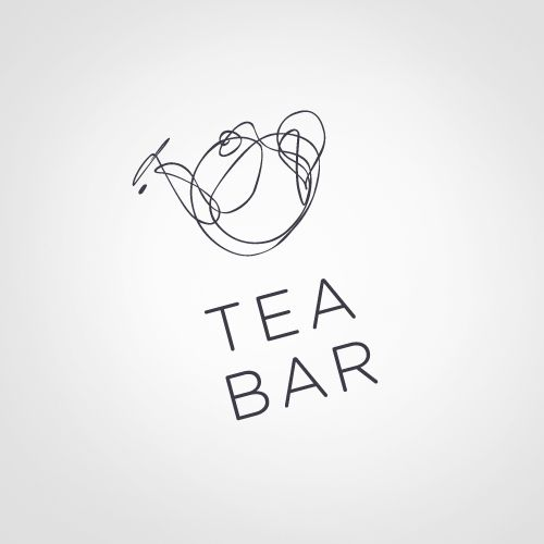 Logos by John Magnifico, via Behance illustrated abstract tea bar