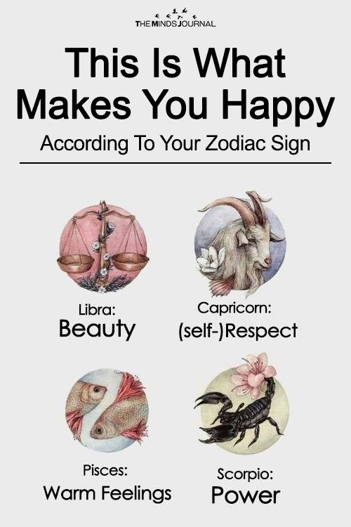 This Is What Makes You Happy According To Your Zodiac Sign - https://themindsjournal.com/makes-happy-zodiac-sign/