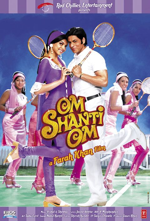 Sharukh Khan and Deepika Padukone in Om Shanti Om. How many dances are choreographed with a badminton sequence? Classic!