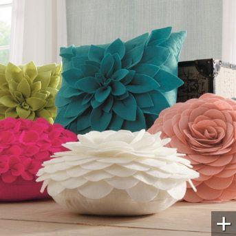 Petal Pillows - http://www.grandinroad.com/dimensional-petal-pillows/indoor-decor/bedding-pillows-throws/334656?listIndex=1