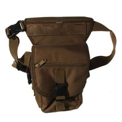Durable+Multi-Layered+Nylon+Leg+and+Waist+Pouch+Carrier+Bag+for+Outdoor+Activity+-+Earthy