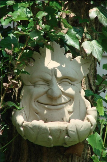 Garden Smile Birdfeeder, by George Carruth, from the garden of Bonnie Cole