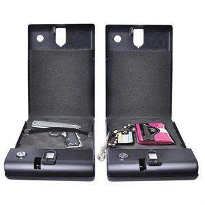 100 Fingerprint Portable Gun Safe Biobox Cable Biometrics Pistol Travel Car Hot 2 of 5