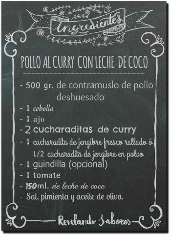Revelando Sabores: Pollo al curry con leche de coco