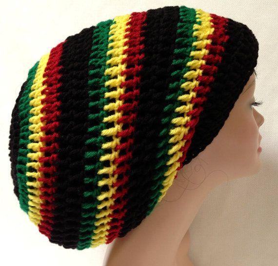 Rasta Crochet Tam. Dreadlocks Hat. Bob Marley crochet Tam. Jamaican hat.  1476492d26e