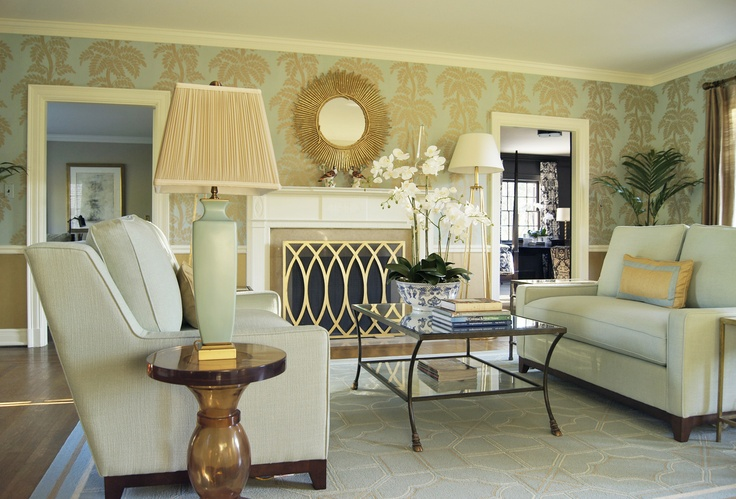 Lisa Kahn-Allen from the Kahn Design Group created this serene Owner's Sitting Room for the 2013 Adamsleigh Showhouse - Traditional Home®