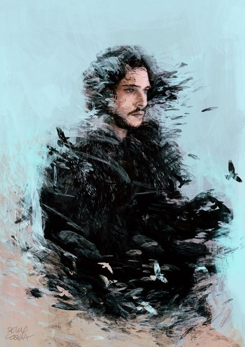 """""""I don't care if he's a bastard; Ned Stark's blood runs through his veins. He's my king, from this day until his last day."""" The King in the North - Illustration by Relly Coquia"""