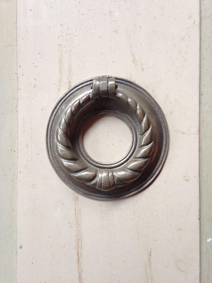 Dørhammer i messing - super flot udførsel passer til både nye og gamle døre - også udendørs