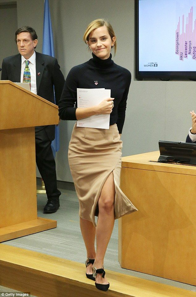Taking a stand: Emma Watson was the guest of honour at the 71st Annual United Nations General Assembly in New York City on Tuesday