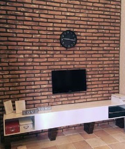 Monta Brick Slip feature wall for this lounge feature wall