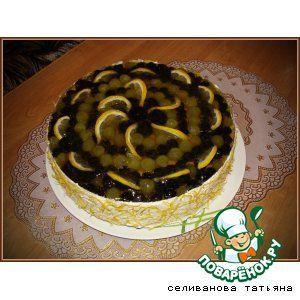 "Торт виноградный с начинкой ""Сабайон"""