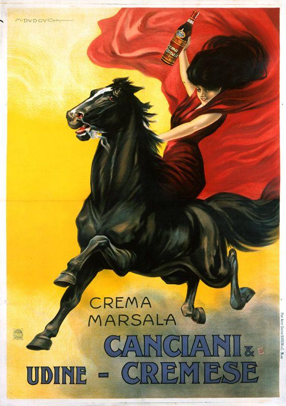 Crema Marsala - Canciani & Cremese by Dudovich, Marcello 1910 #TuscanyAgriturismoGiratola