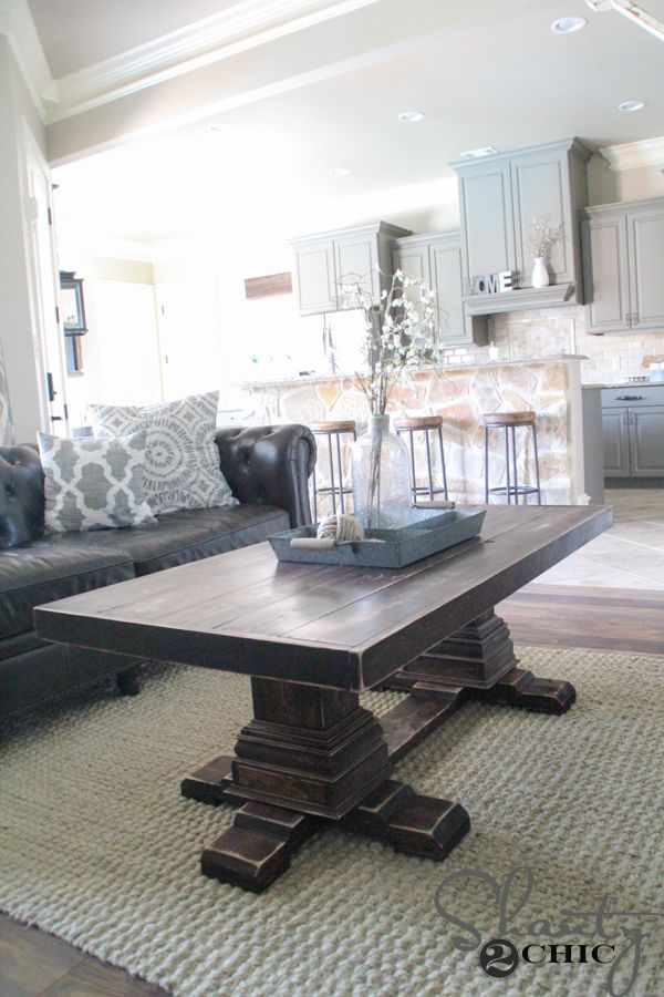 DIY-Coffee-Table-with-Legs - watch for this dining table version!