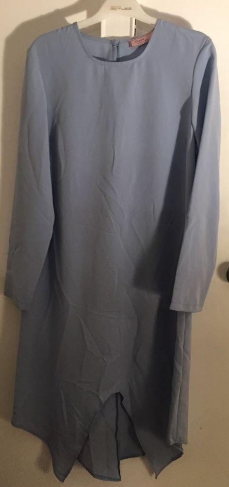 Islamic Women Tunic BLUE Long Sleeve Blouse TOP MUSLIM DRESS TURKEY #DIALA #TunicDRESS