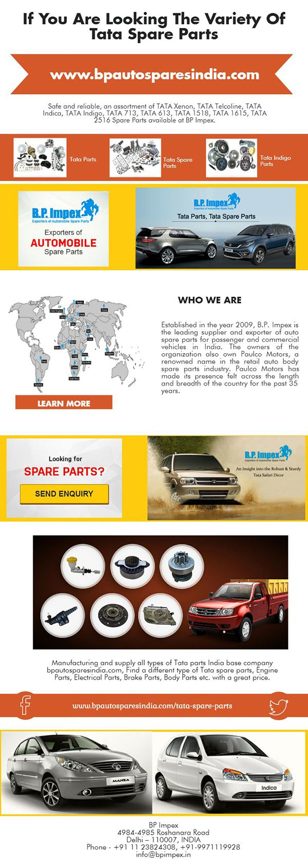 Genuine tata spare parts the bp impex company launched tata spare parts and sold all