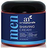 Art Naturals Mens Shaving Cream 8 Oz -Natural Hydrating & Soothing  Great for Sensitive Skin