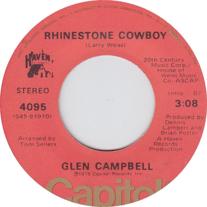 Glen Campbell - Rhinestone Cowboy. A load of compromizin' that's way out on that horizon :-))