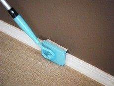 How smart! A baseboard buddy so you don't spend the time on your hands and knees scrubbing baseboards.