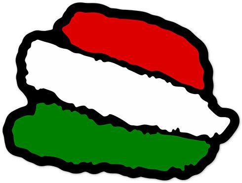 Pegatinas: Trazos bandera Italia #bandera #pegatina #TeleAdhesivo
