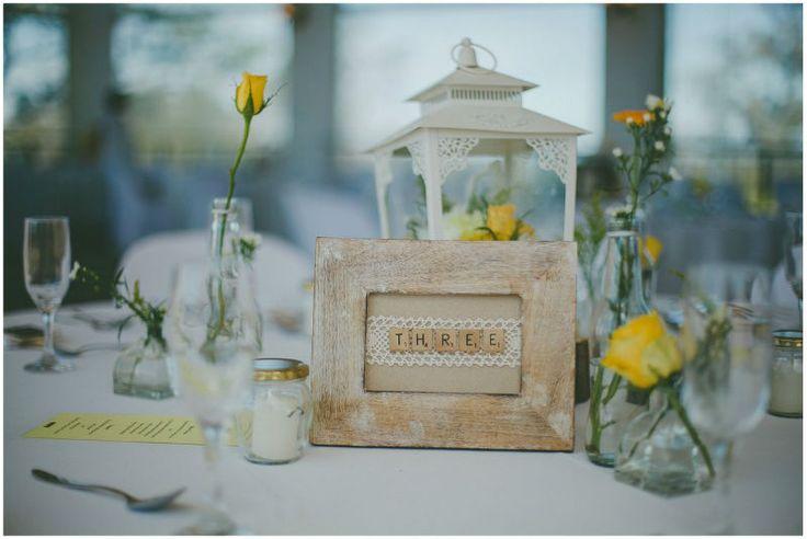 Rustic, Yellow & Cream Crisp & Clean Wedding. Lanterns, Roses.