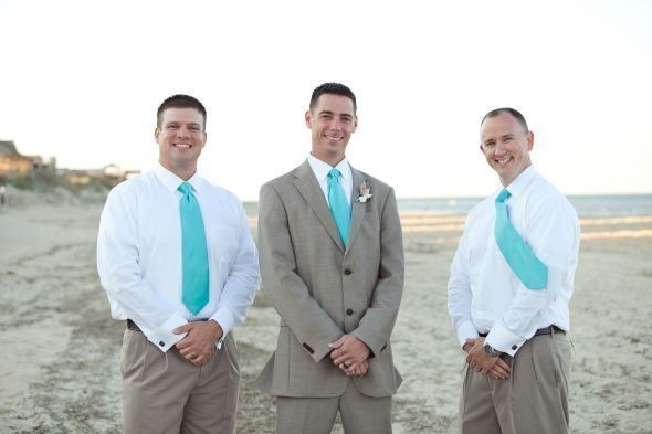Beach Wedding Groomsmen Attire   Found on boards.weddingbee.com by felicia