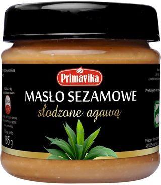 Dla wszystkich łasuchów, którzy mimo swojego apetytu na słodycze, ponad wszystko cenią sobie produkty wartościowe odżywczo i mają na uwadze potrzebę zdrowego odżywiania, firma Primavika przygotowała słodka niespodziankę – Masło sezamowe słodzone ekologicznym syropem z agawy.