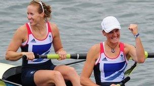 Heather Stanning, Helen Glover- GOLD
