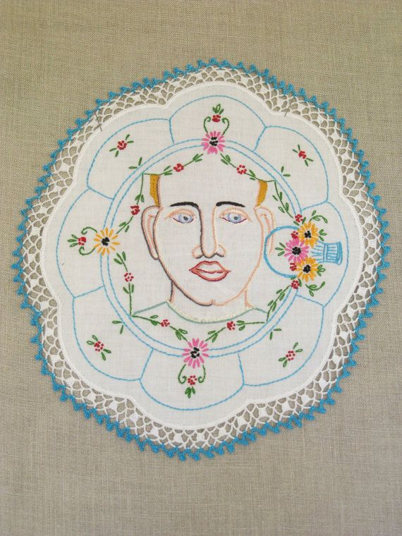 Embroidery Female Portrait Hoop Art Embroidery Art by wilshepherd