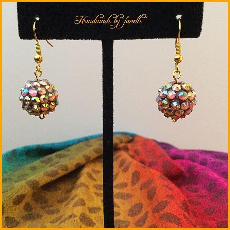 Multi Coloured Cluster Bead Ball Earrings Handmade New http://stores.ebay.com.au/Handmade-by-Janelle?_rdc=1