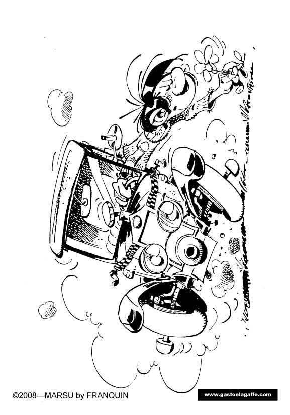 Coloriages: dessins de Gaston Lagaffe à colorier