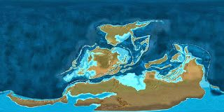 Reconstruction of the Earth in middle Devonian     http://space-telescopes-news.blogspot.com/2010/10/middle-devonian.html