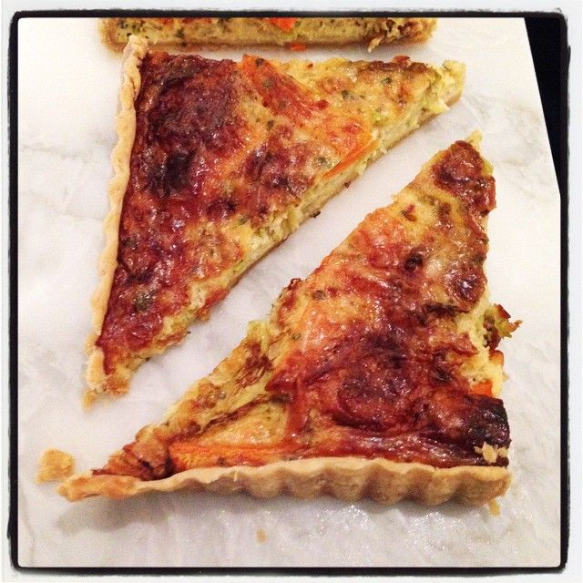 Experimenting with leftovers and made a delicious quiche, using yoghurt, carrots and cabbage!