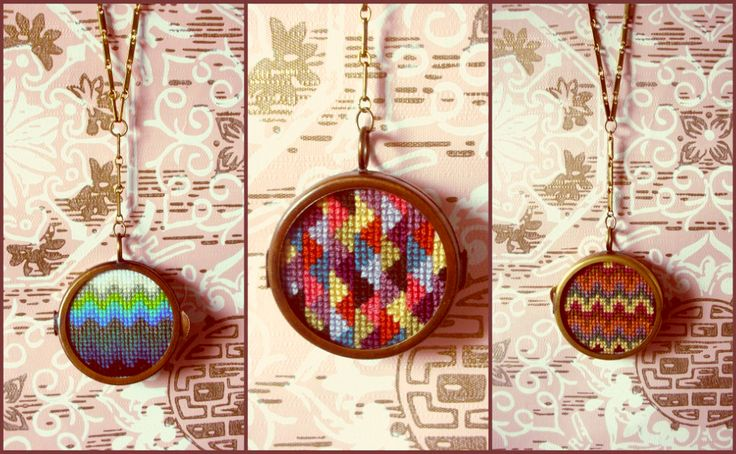 Cross stitch jewelry | Search Results | THIS IS LALA LAND