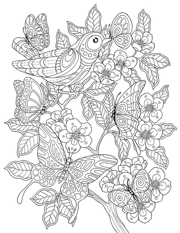 """pour prendre mon envol"" coloring book agenda 2016 on Behance"