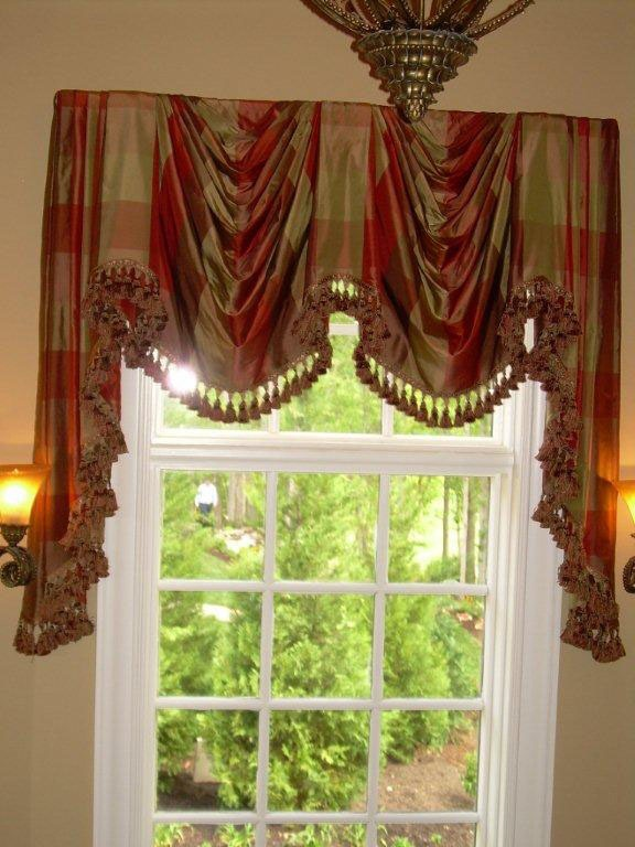 289 Best Curtains Swags Jabots Images On Pinterest Window Treatments Crown And Curtain Holder