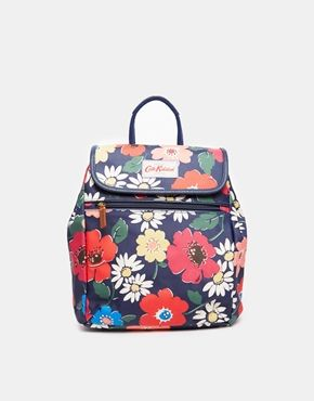 Cath Kidston Mini Backpack in Navy Floral