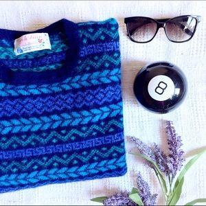 Vintage 80s 100% Wool Irish Sweater