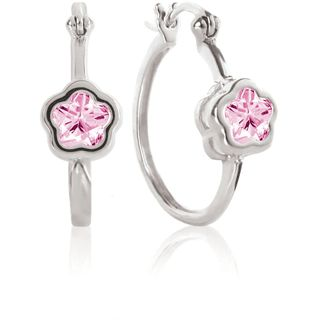 Rose BFlower Hoop Earrings for Girls from The Jewelry Vine