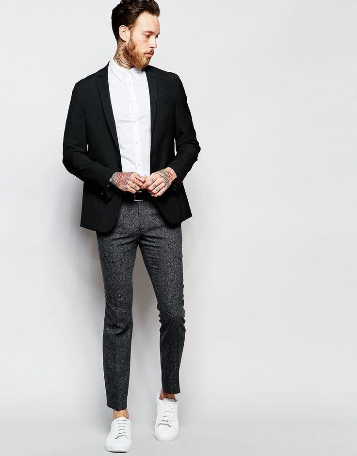 Image 4 ofASOS Skinny Smart Blazer in Black