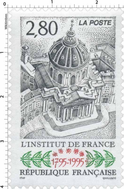 Timbre : L'INSTITUT DE FRANCE 1795-1995 | WikiTimbres