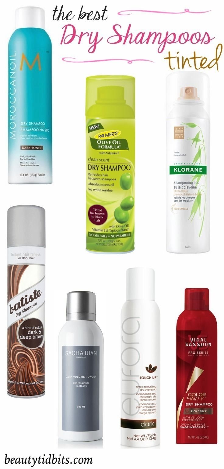 Best tinted dry shampoos for dark hair