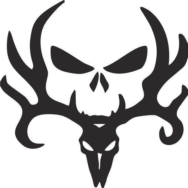110171da3d676 Bone Collector Vinyl Decal | A silhouette idea | Vinyl decals, Deer ...